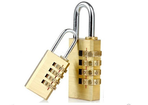 Numeric Brass Padlock - Big